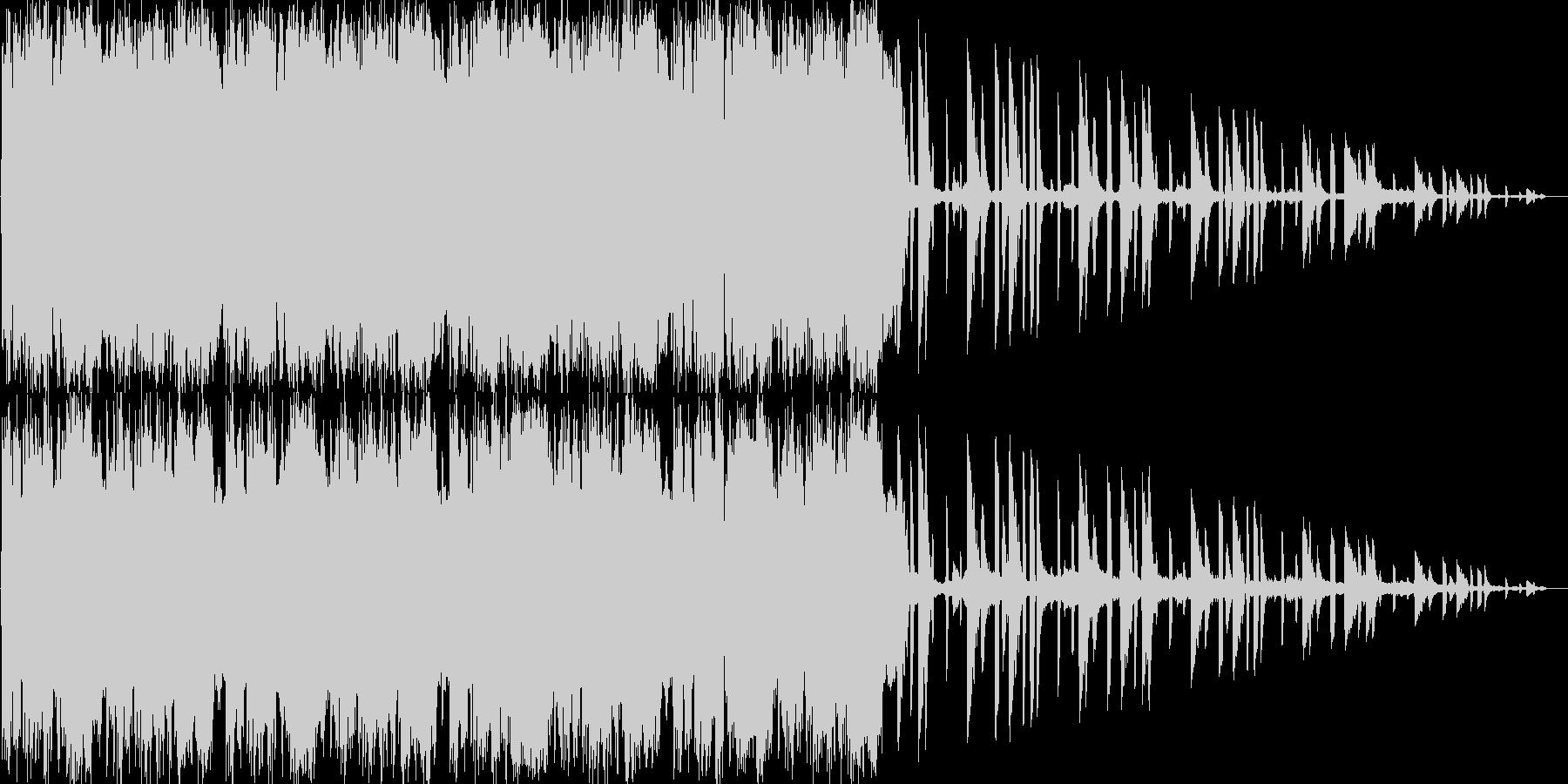 激しいリズムが特徴のロックの未再生の波形