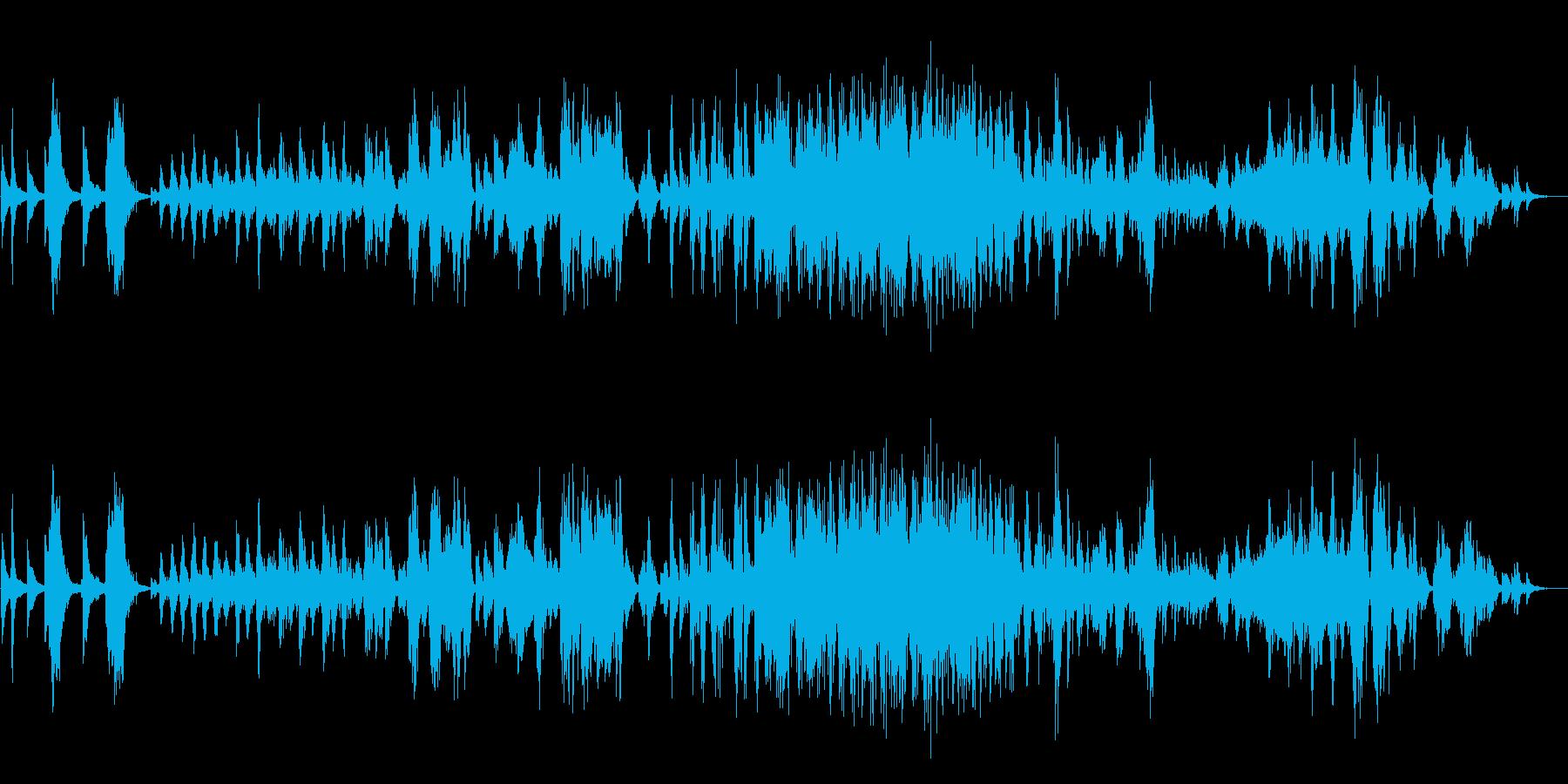 暗く悲しいイージーリスニングピアノソロの再生済みの波形
