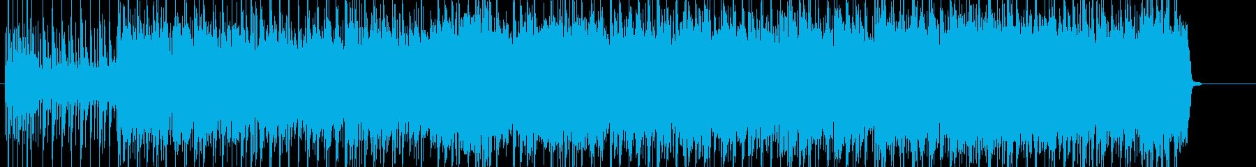 重たく重厚な雰囲気のロックの再生済みの波形