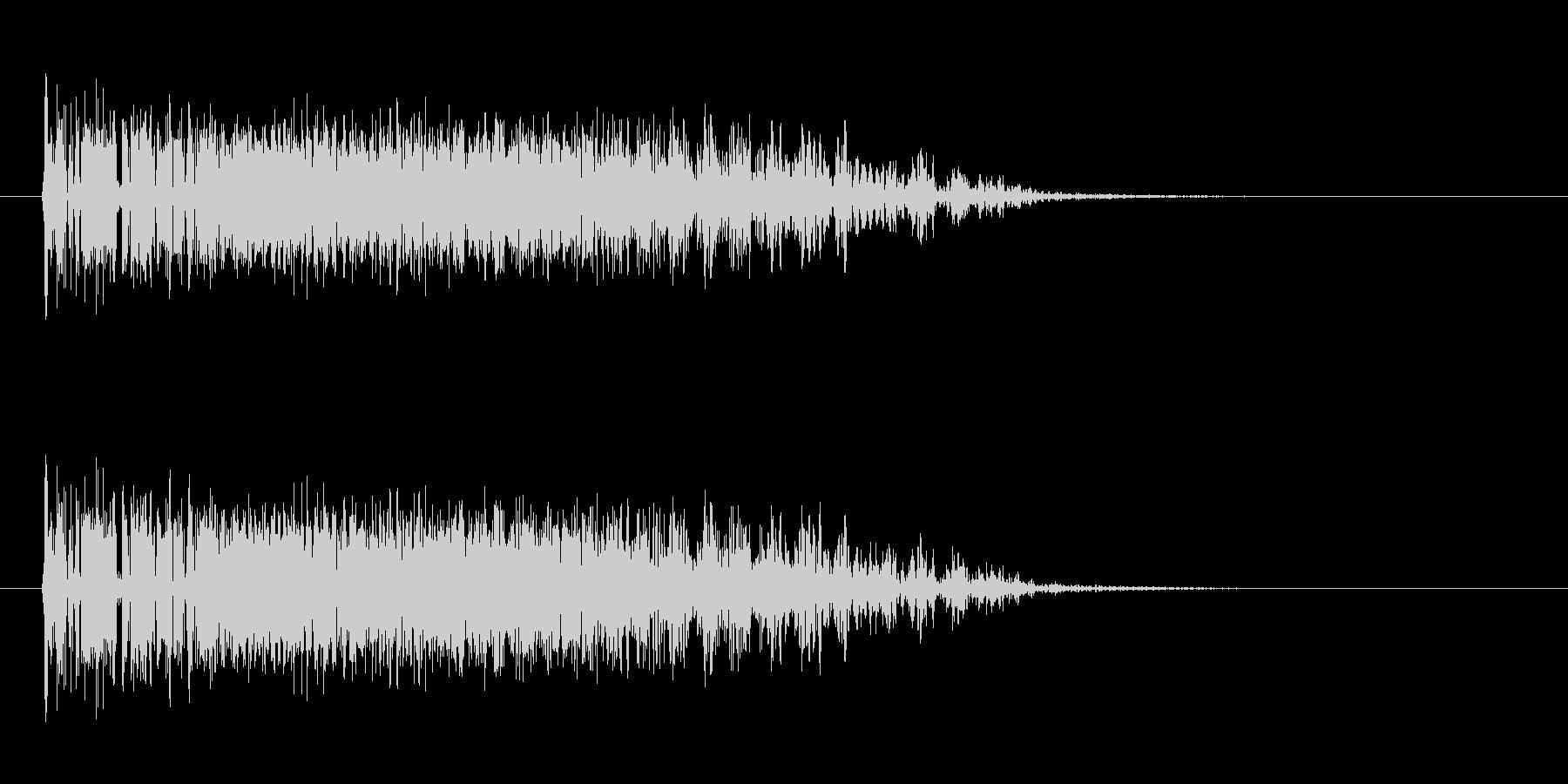 ジェットエンジンの発射音の未再生の波形