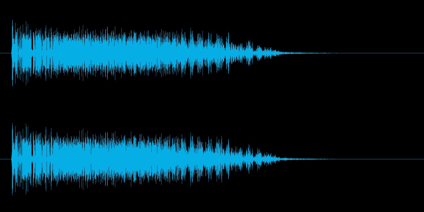 ジェットエンジンの発射音の再生済みの波形