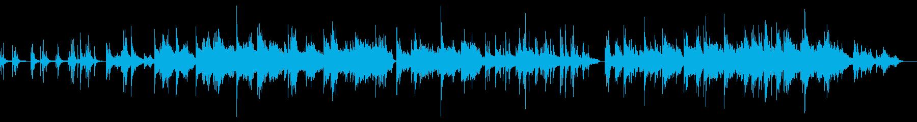 ピアノによるヒーリングミュージックの再生済みの波形