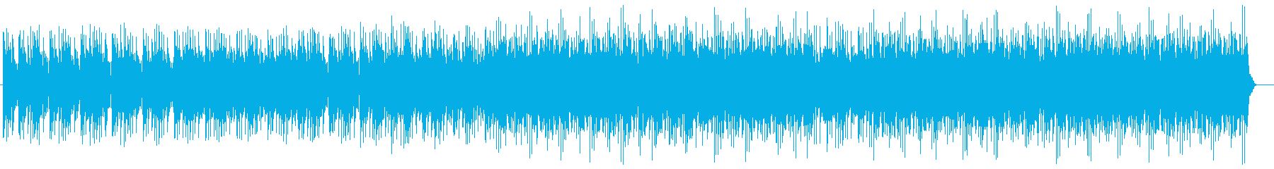 近未来風シンセサイザーサウンドの再生済みの波形