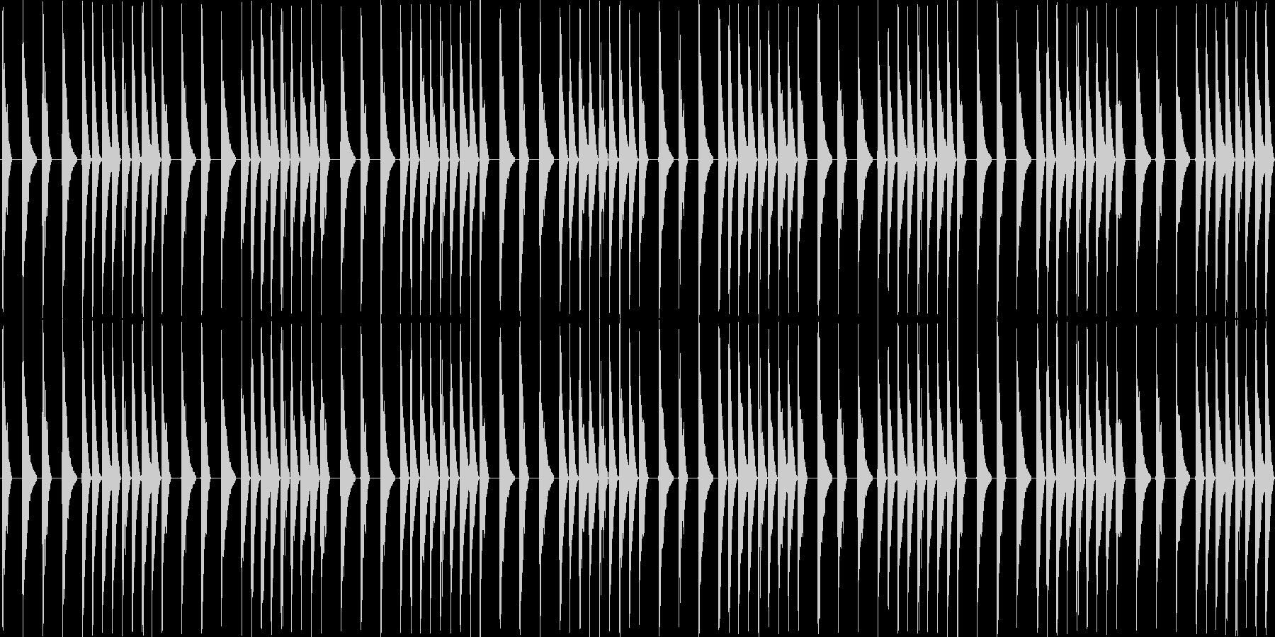 8bitのレトロでスリリングなBGMの未再生の波形