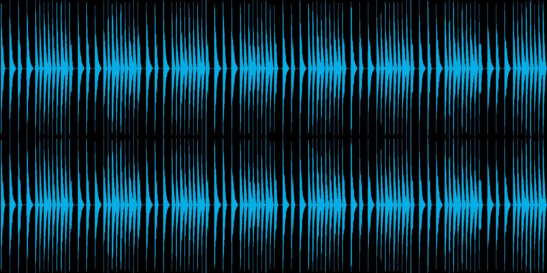 8bitのレトロでスリリングなBGMの再生済みの波形