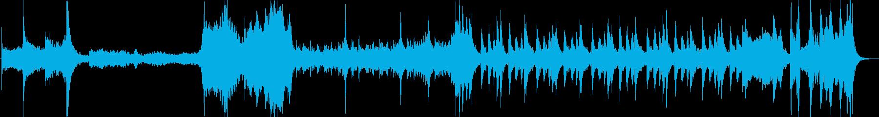 サスペンス的なオーケストラ曲の再生済みの波形