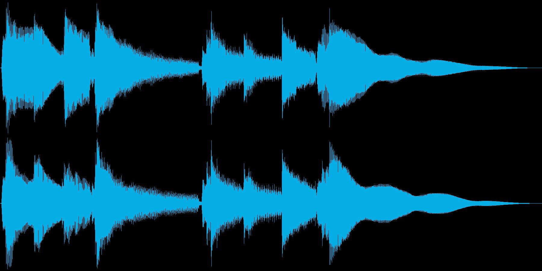 穏やかなアコギソロジングルの再生済みの波形