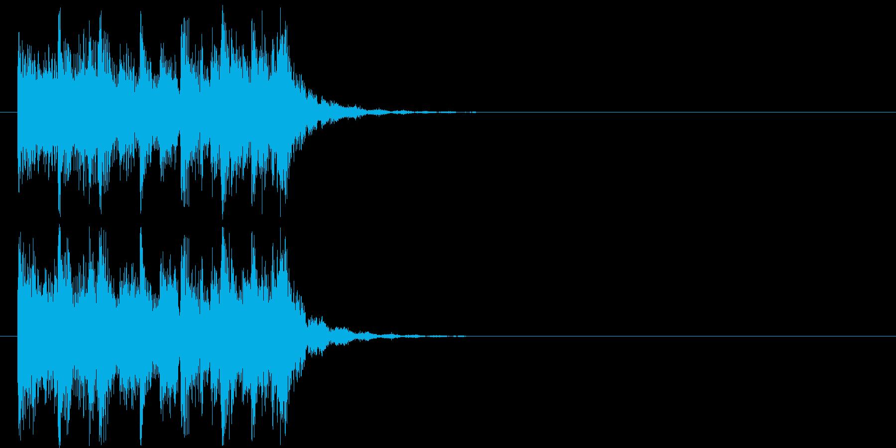 あやしい 緊張 追跡 躍動 スピードの再生済みの波形