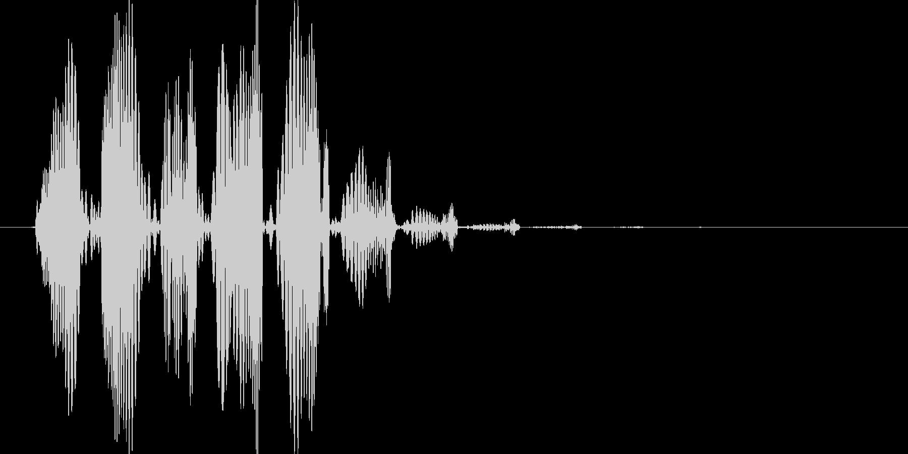 電子系のブクブク音の未再生の波形