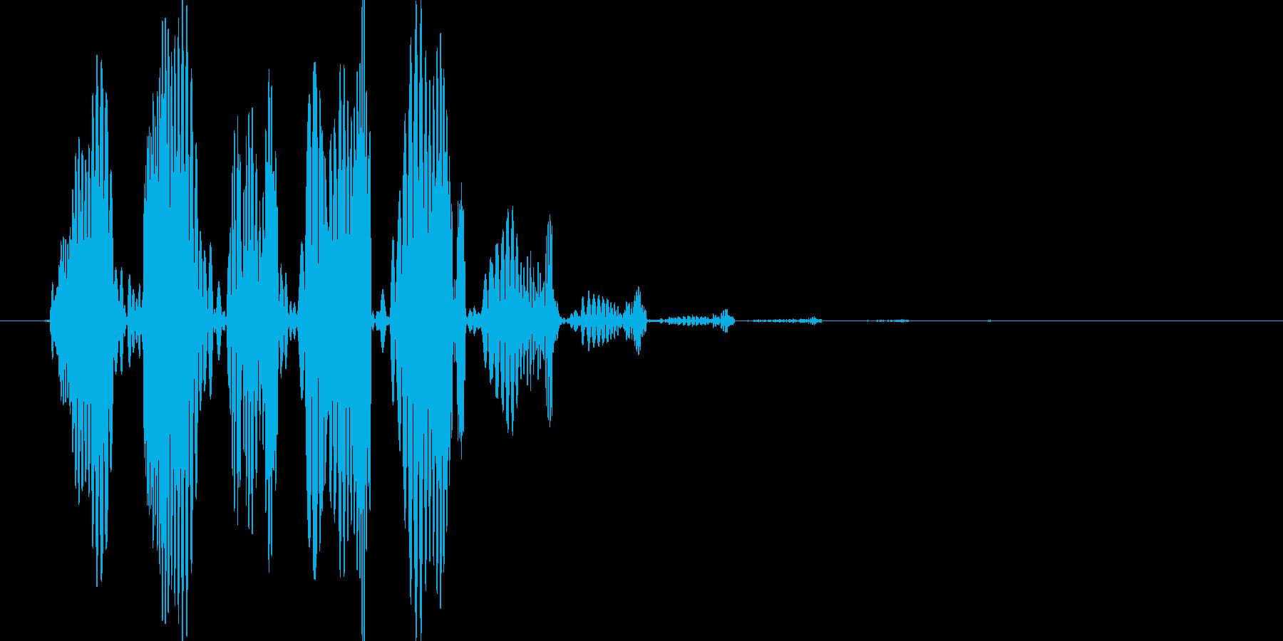 電子系のブクブク音の再生済みの波形