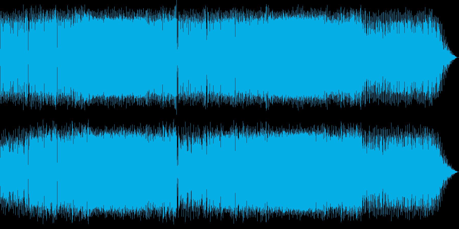 クールで活気あるサマーミュージックの再生済みの波形