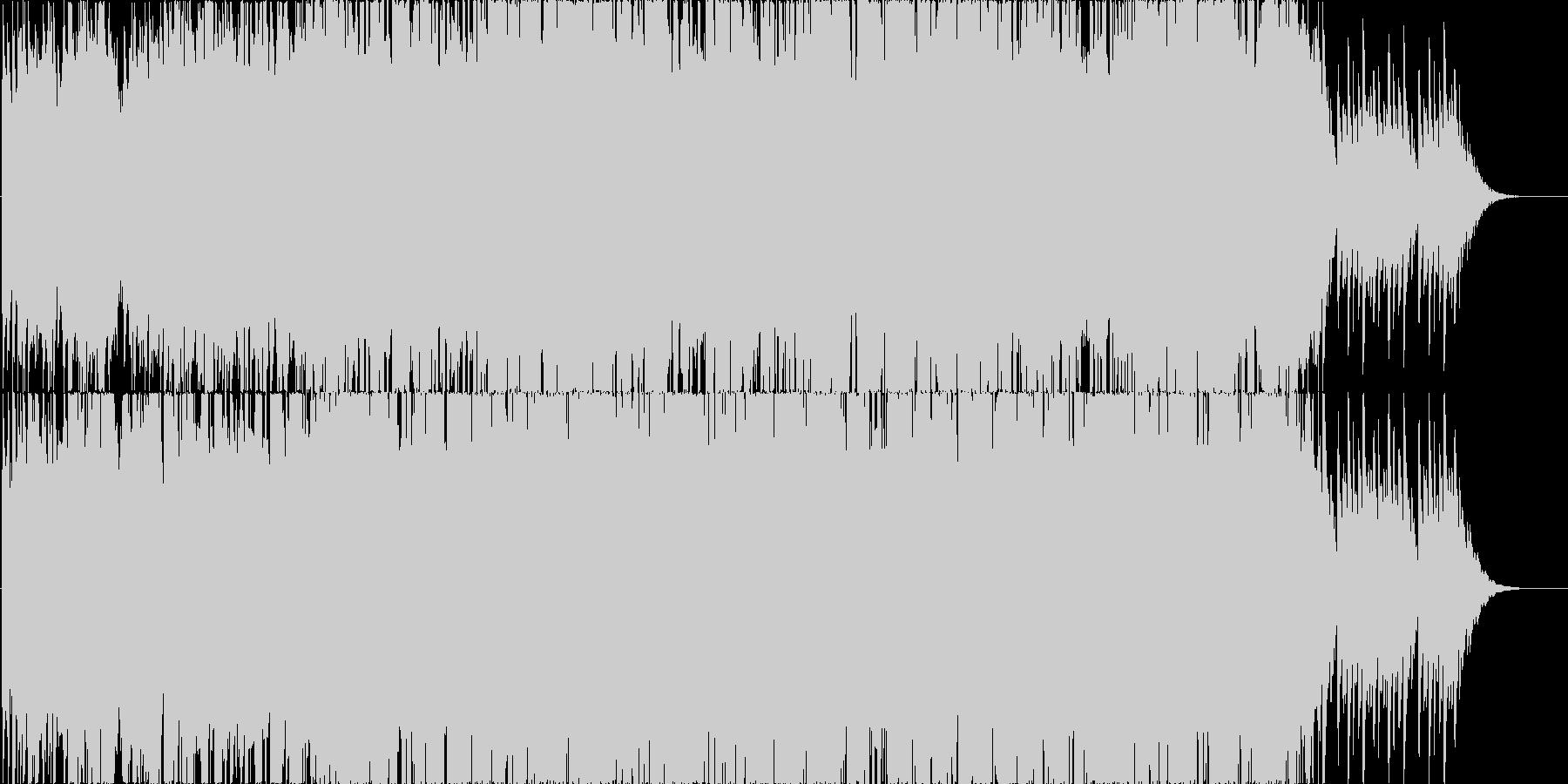 ピアノ主体のアンビエントなBGMの未再生の波形