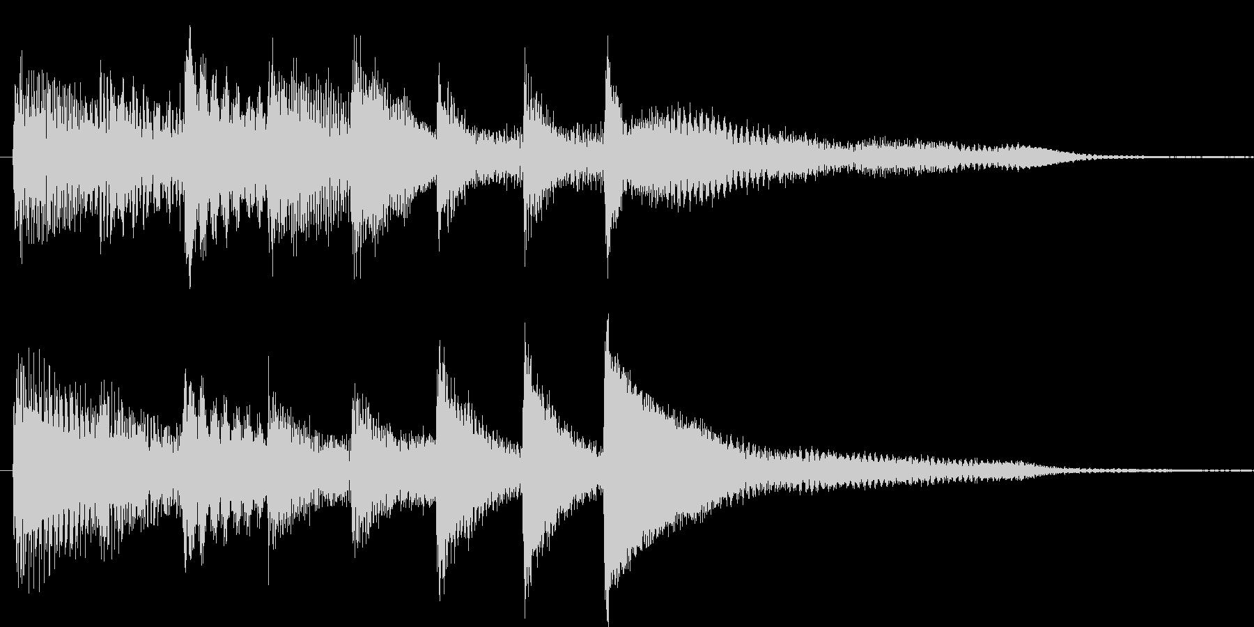 短いピアノ映像用ジングル2の未再生の波形