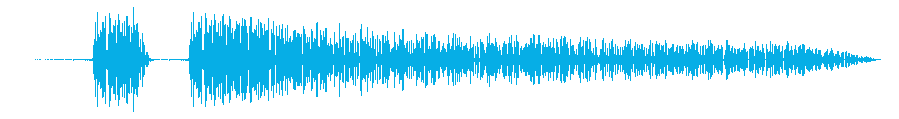「プニ!ポヨン!」可愛い足音などに!02の再生済みの波形