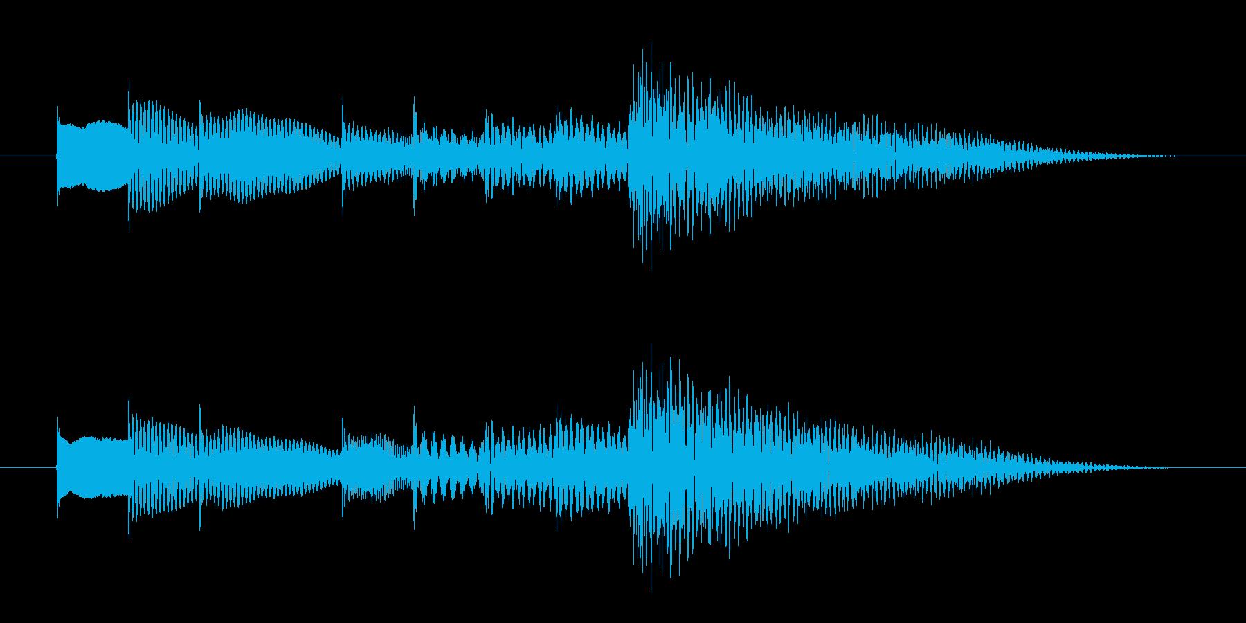 チャイム的オルゴールの再生済みの波形