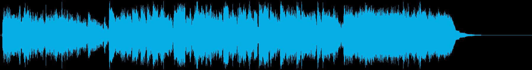ミステリアス民族系フュージョンジングルの再生済みの波形