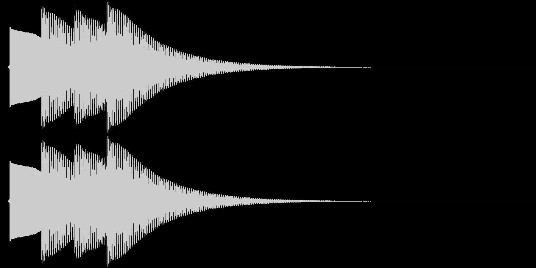 【SE】正解02(ピポピポン)の未再生の波形