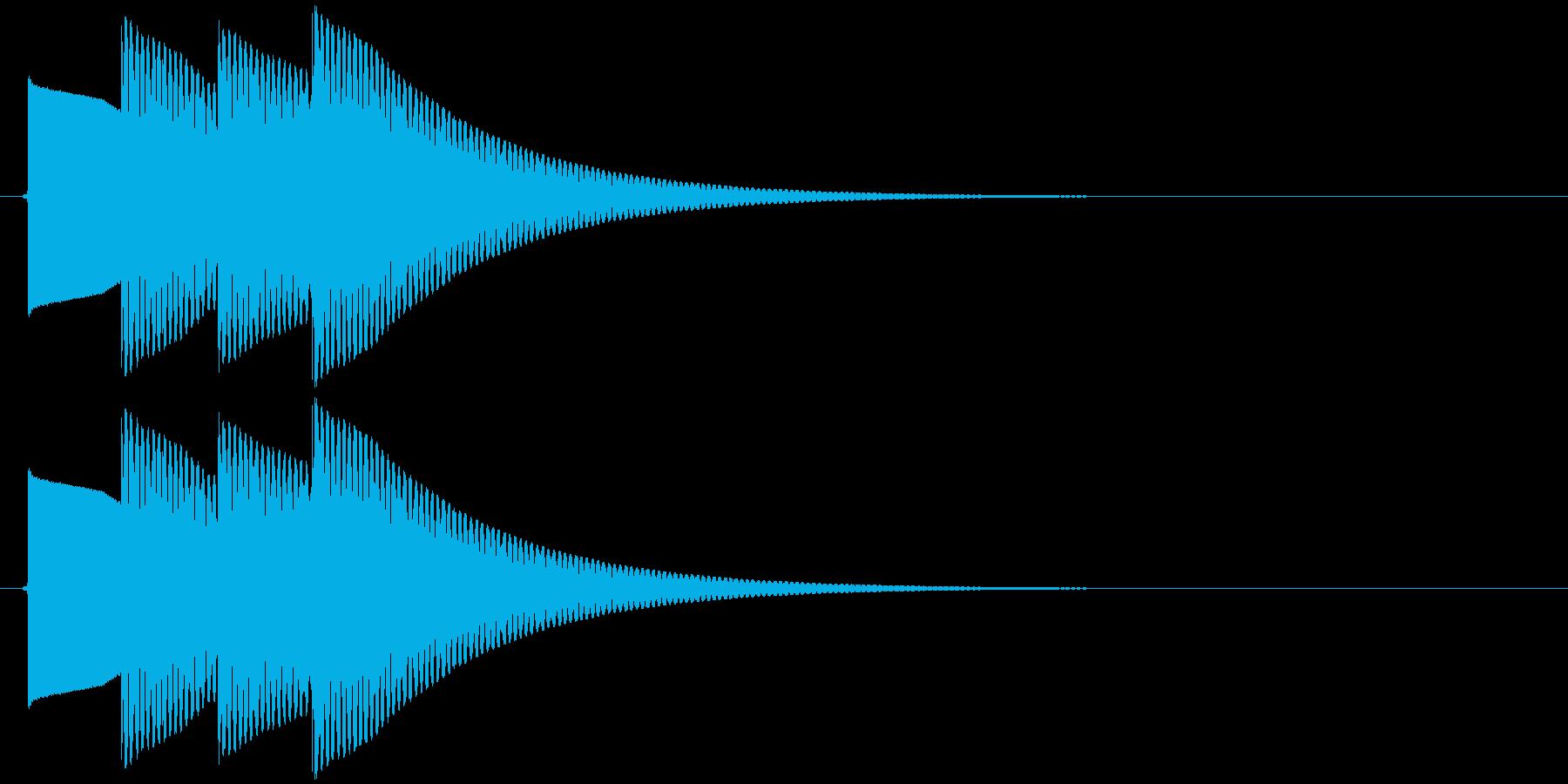 【SE】正解02(ピポピポン)の再生済みの波形