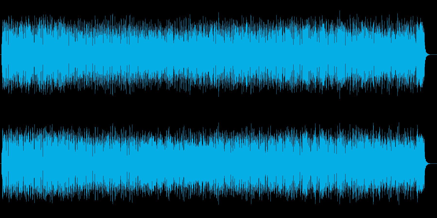 フルートとシンセピアノの心和やかサウンドの再生済みの波形