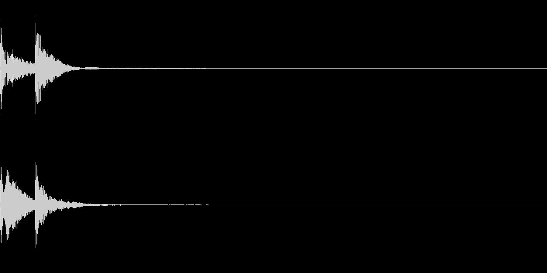 ピコ(叩く音)の未再生の波形