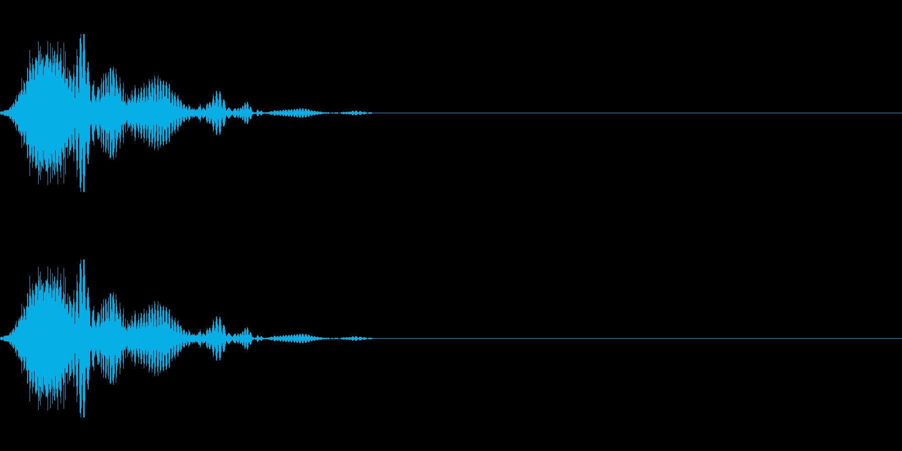 斬撃音(刀や剣で斬る/刺す効果音)17bの再生済みの波形