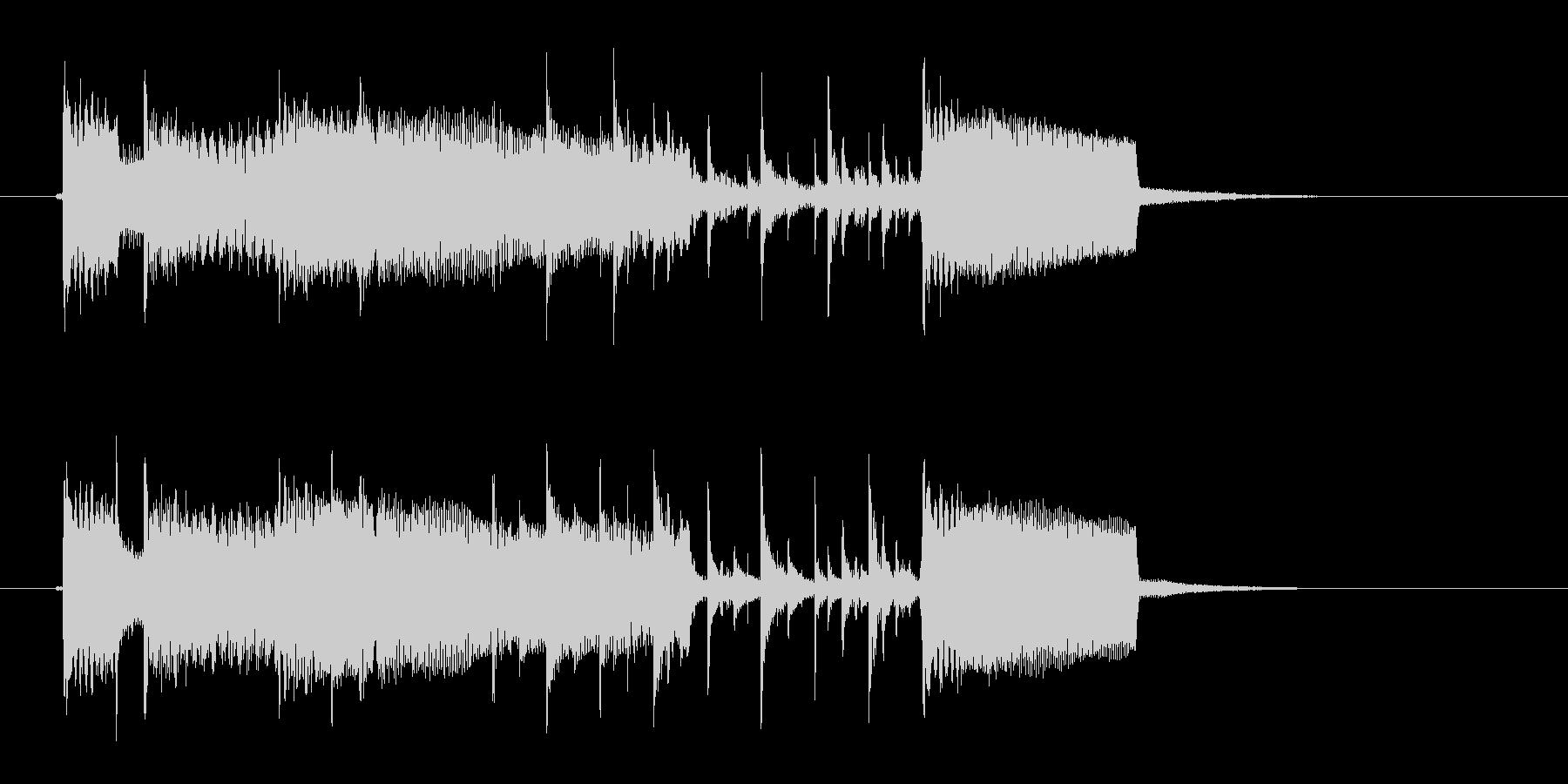 バンド演奏のジングル曲、サウンドロゴの未再生の波形