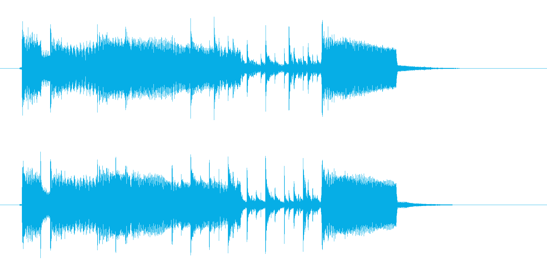 バンド演奏のジングル曲、サウンドロゴの再生済みの波形