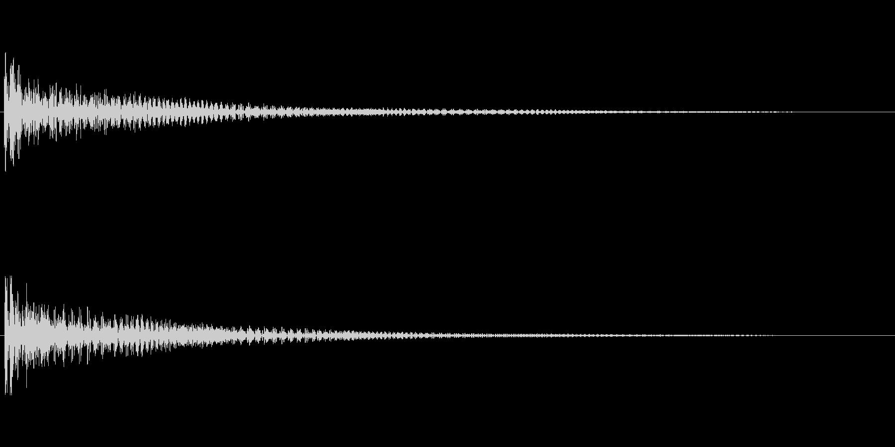 【衝撃02-1】の未再生の波形