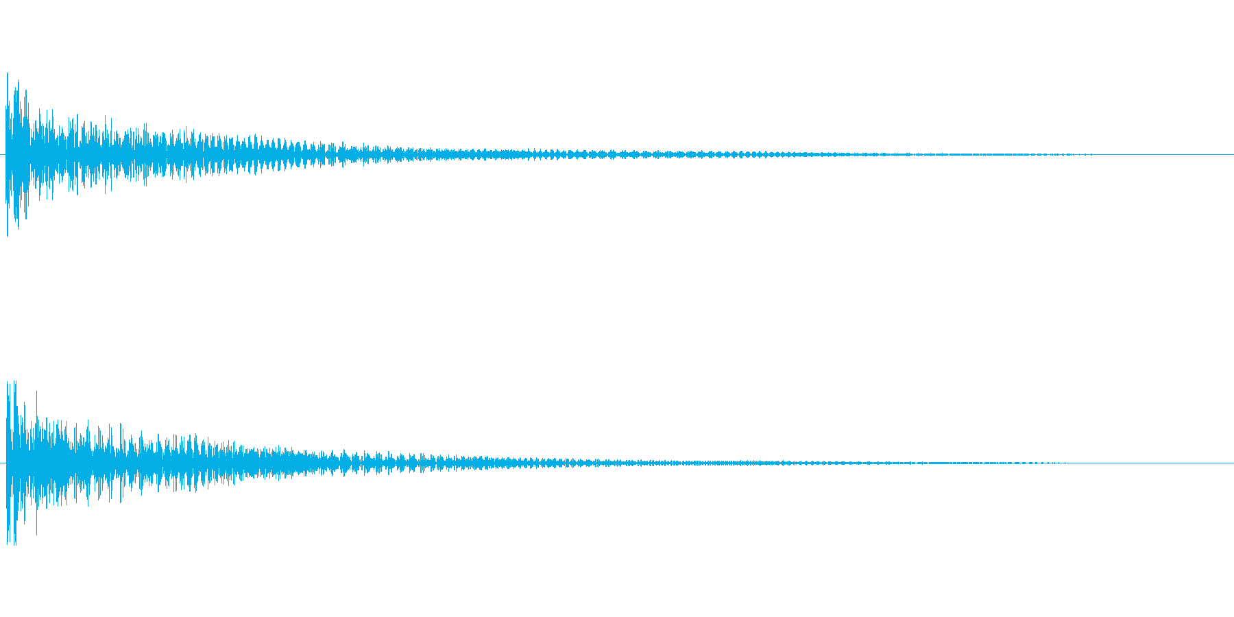 【衝撃02-1】の再生済みの波形