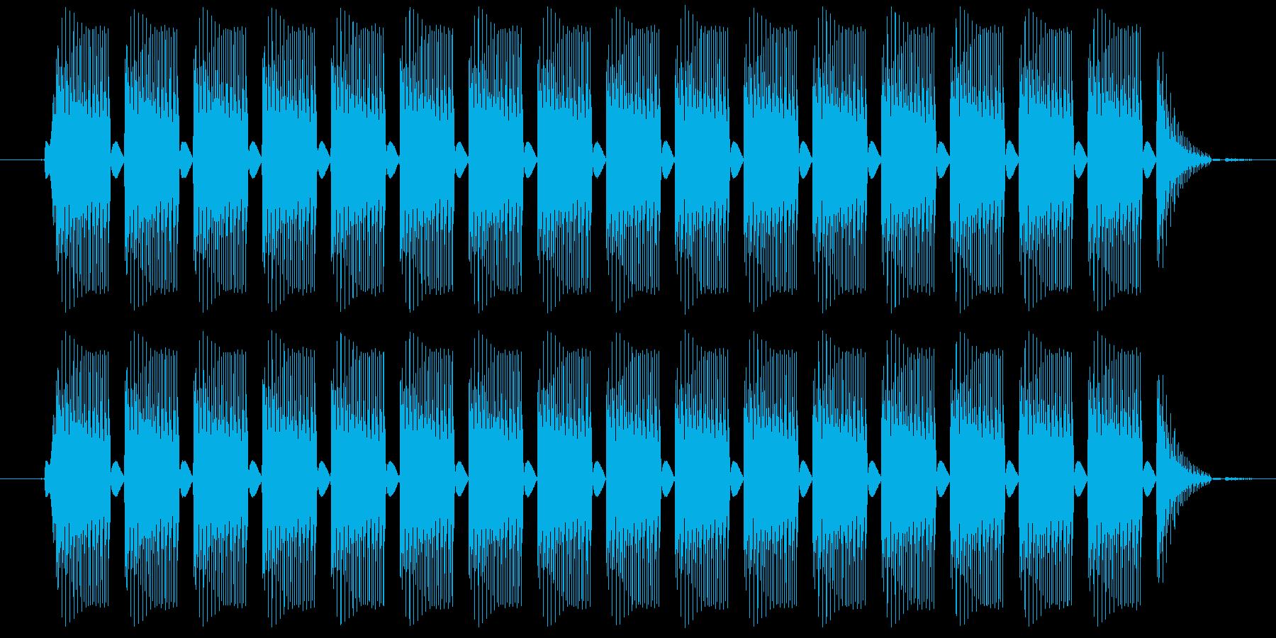 プルルルル・・・という電話の音ですの再生済みの波形