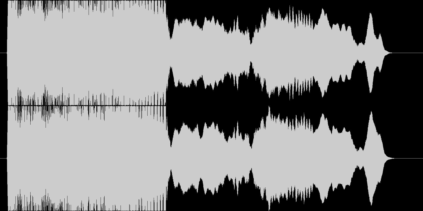 エレキギターのフィードバック音コードD#の未再生の波形