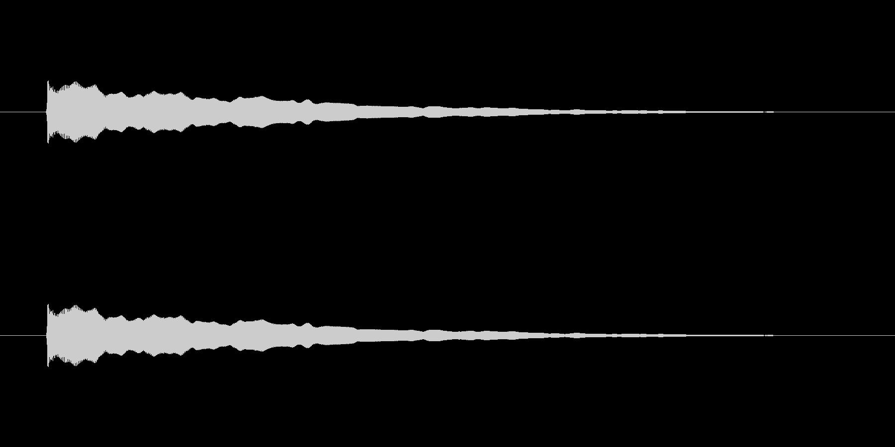 【アクセント19-1】の未再生の波形