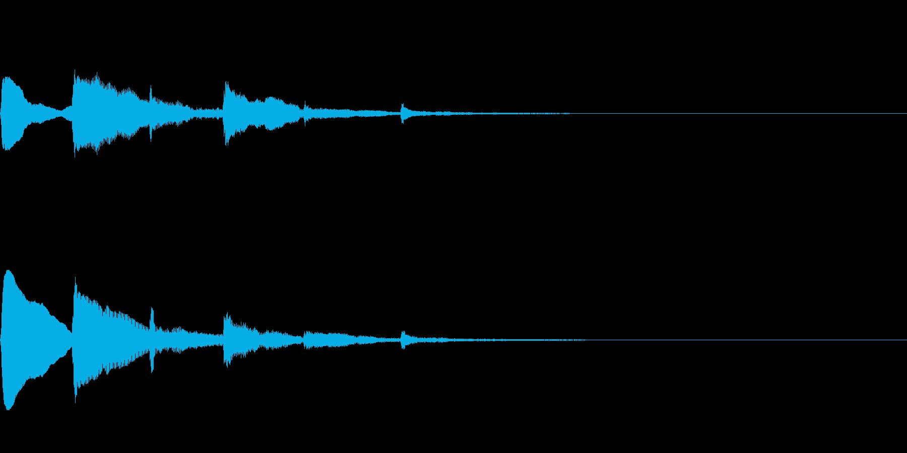 ハープの分散和音によるサウンドロゴの再生済みの波形