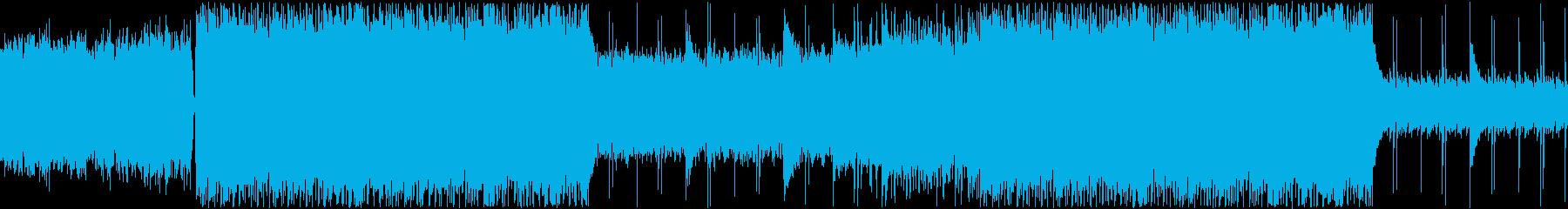 勇壮で牧歌的なインスト楽曲ループの再生済みの波形