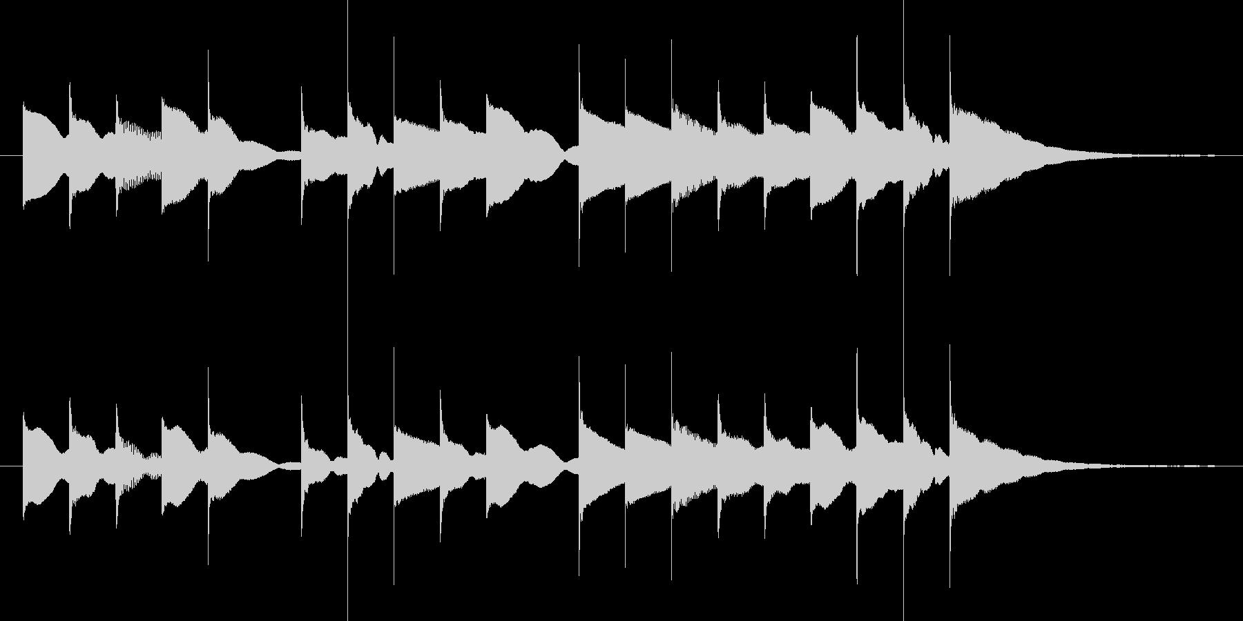 アルプスの牧場のオルゴールの未再生の波形