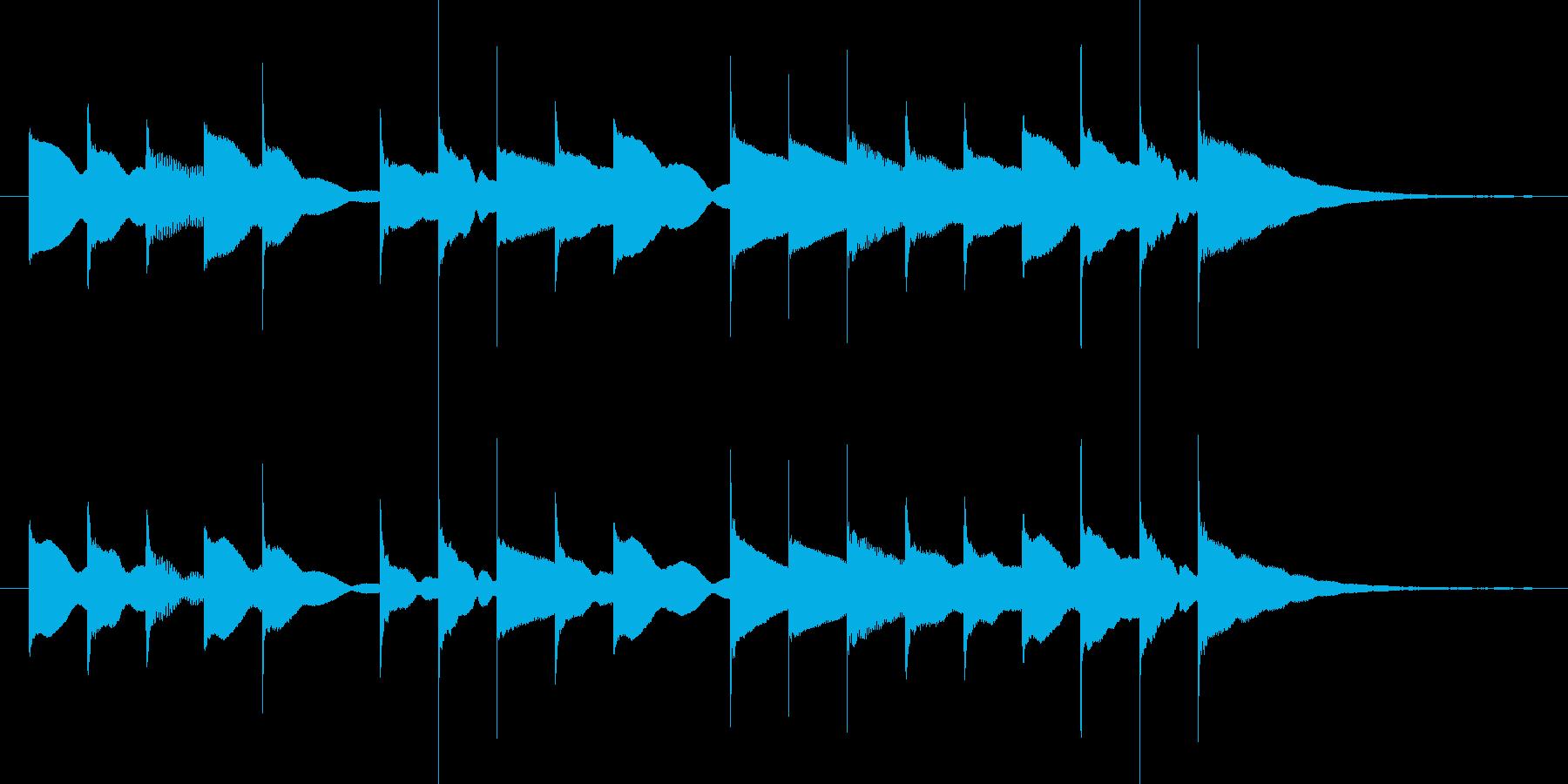 アルプスの牧場のオルゴールの再生済みの波形