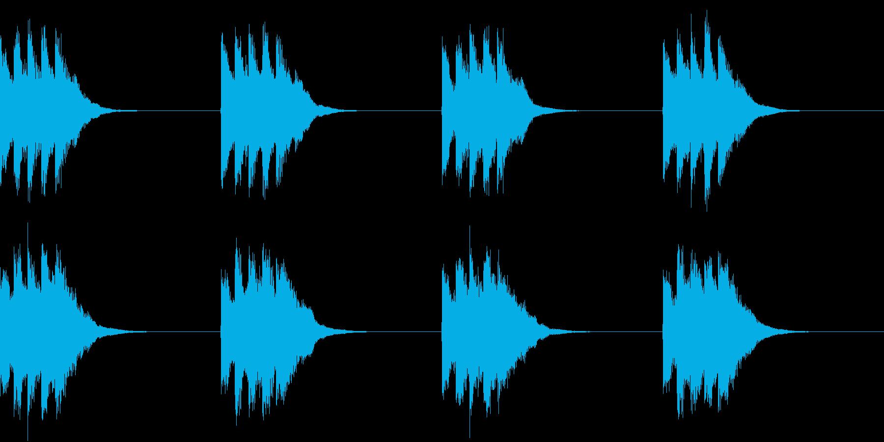シンプル ベル 着信音 チャイム A13の再生済みの波形