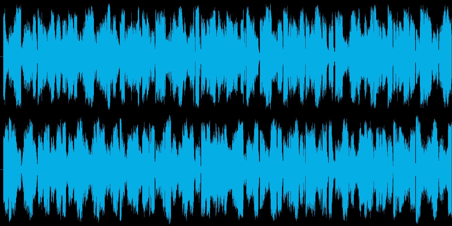 発狂したような電波系ノイズエフェクトですの再生済みの波形