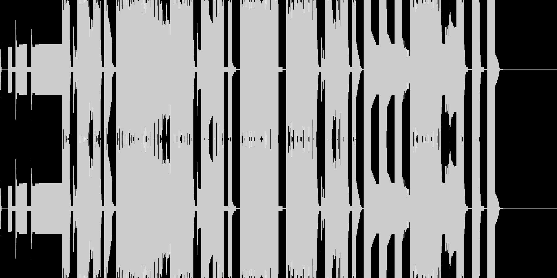 チップチューンの短いエンディングテーマの未再生の波形