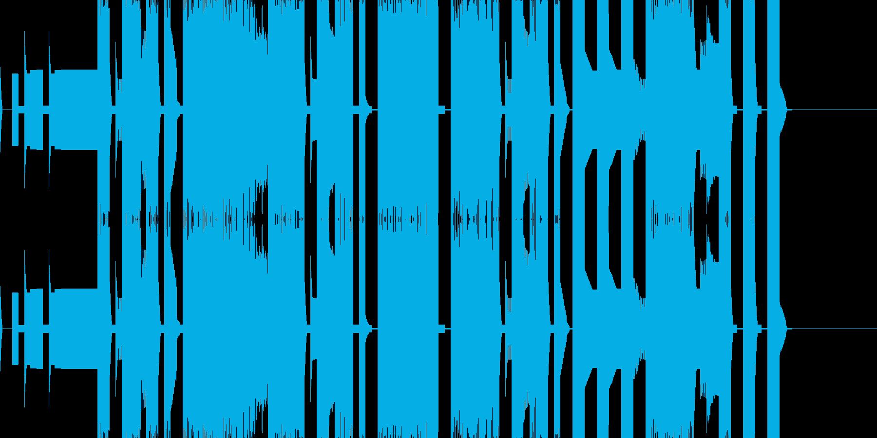 チップチューンの短いエンディングテーマの再生済みの波形