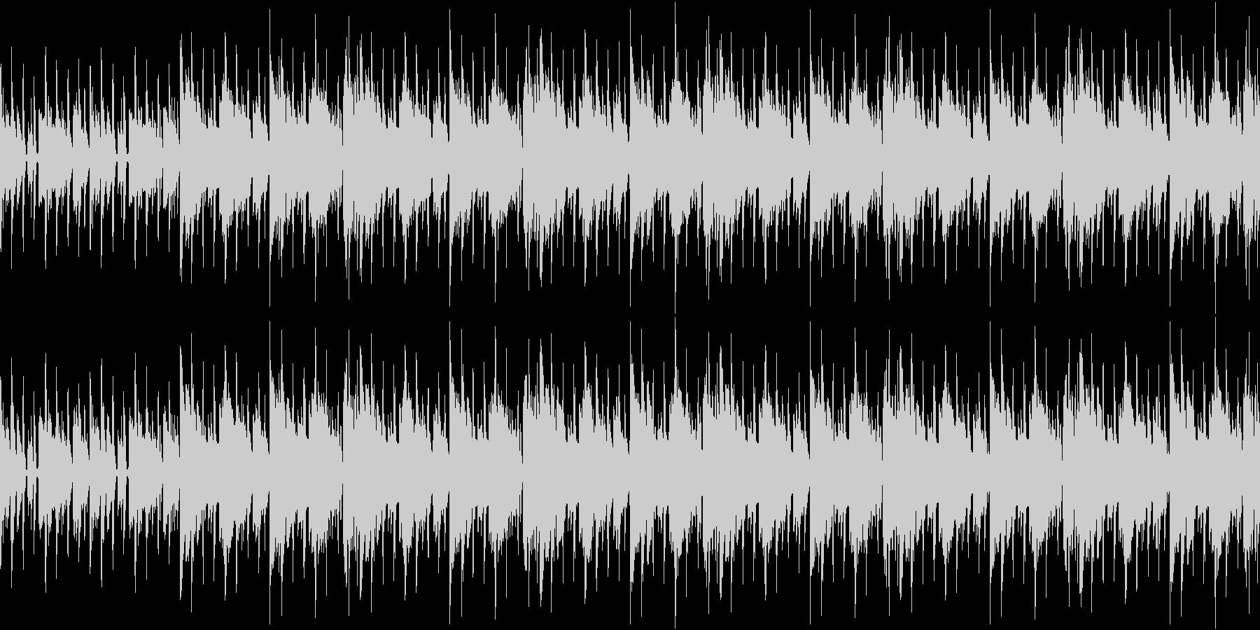 おしゃれな雰囲気のループ用BGMの未再生の波形