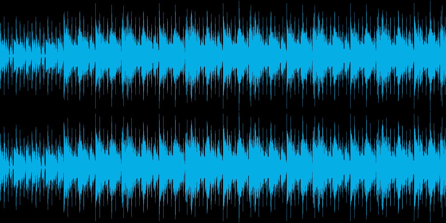 おしゃれな雰囲気のループ用BGMの再生済みの波形