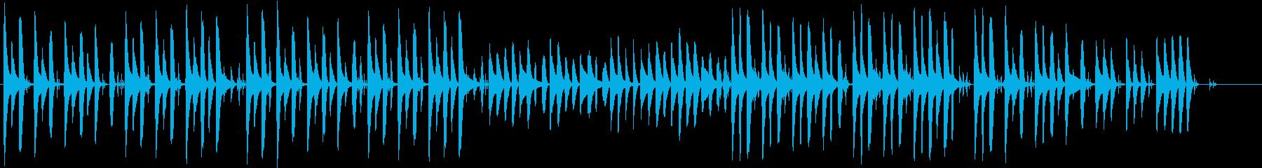 おとぼけ風な短い曲の再生済みの波形
