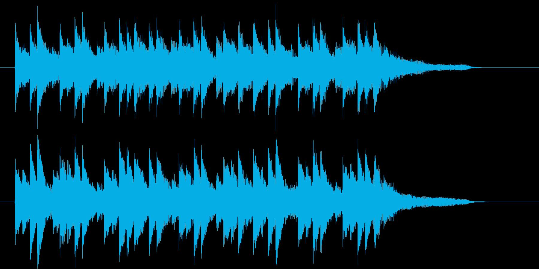 「おしゃれで穏やかなBGM」の再生済みの波形