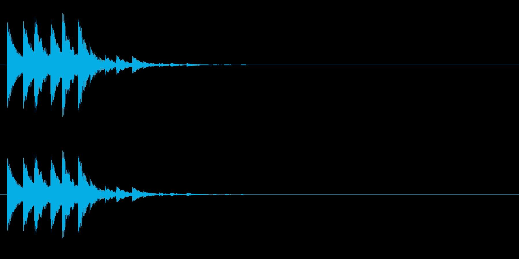チャリチャリチャリーンなコイン獲得の音5の再生済みの波形