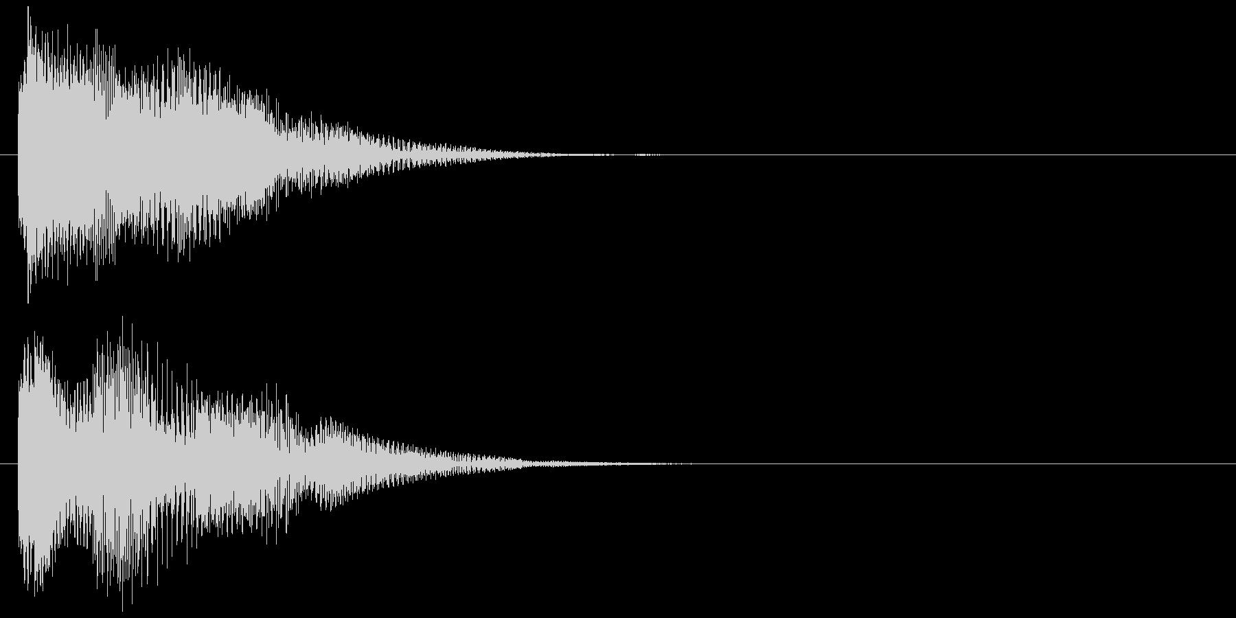 汎用 近未来系03(小) ボタン音の未再生の波形