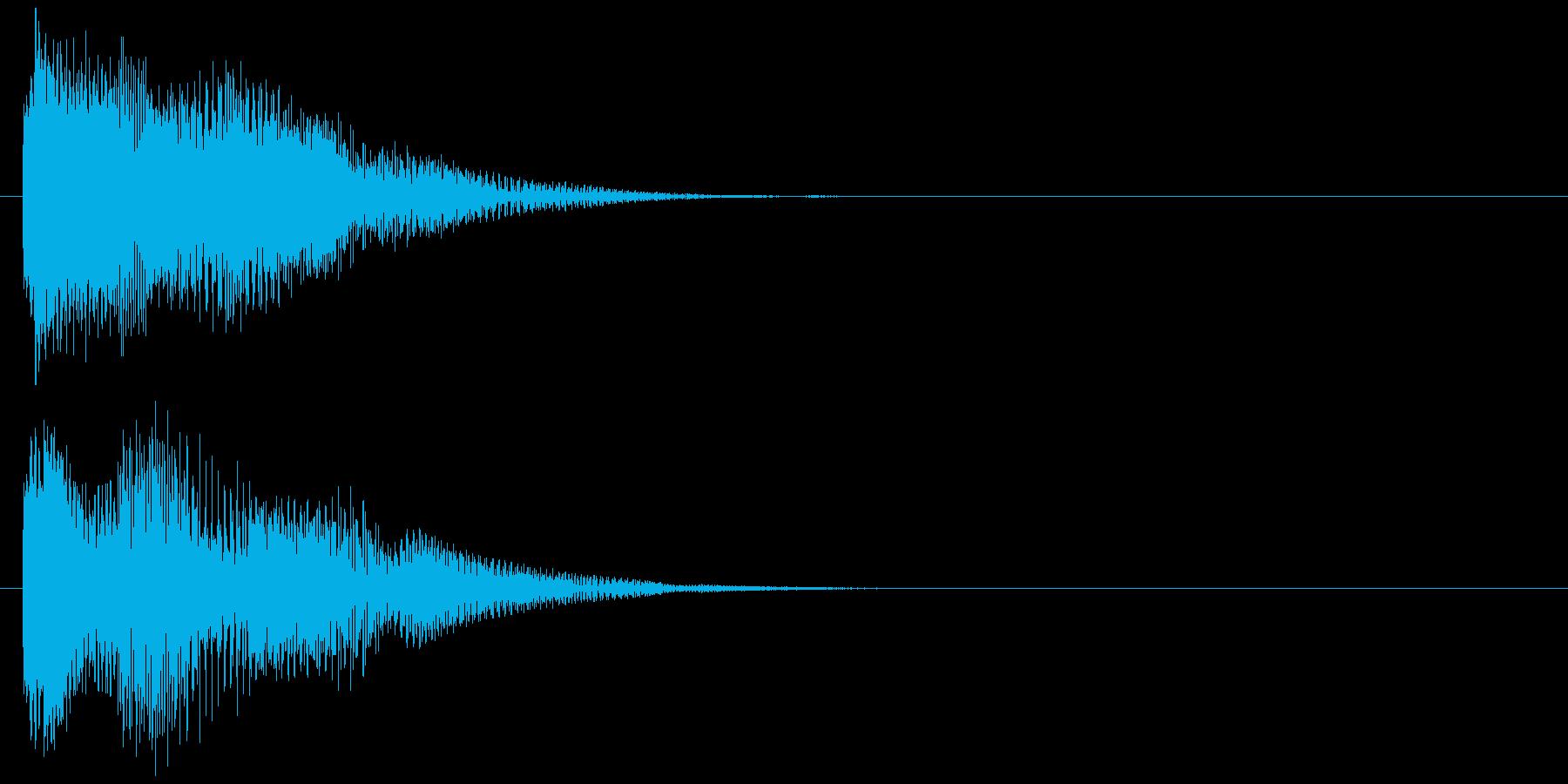 汎用 近未来系03(小) ボタン音の再生済みの波形