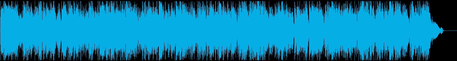 わくわくする高揚感あるジャズ サックス生の再生済みの波形