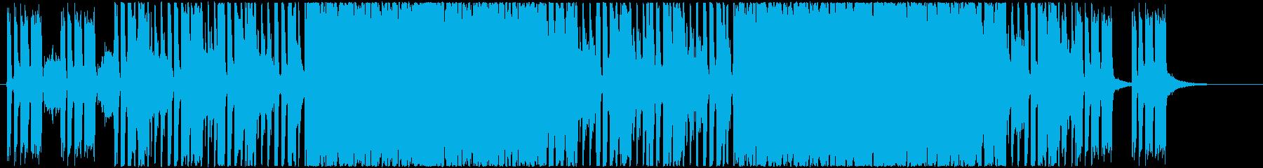 ローリングストーンズ風ギターロックの再生済みの波形