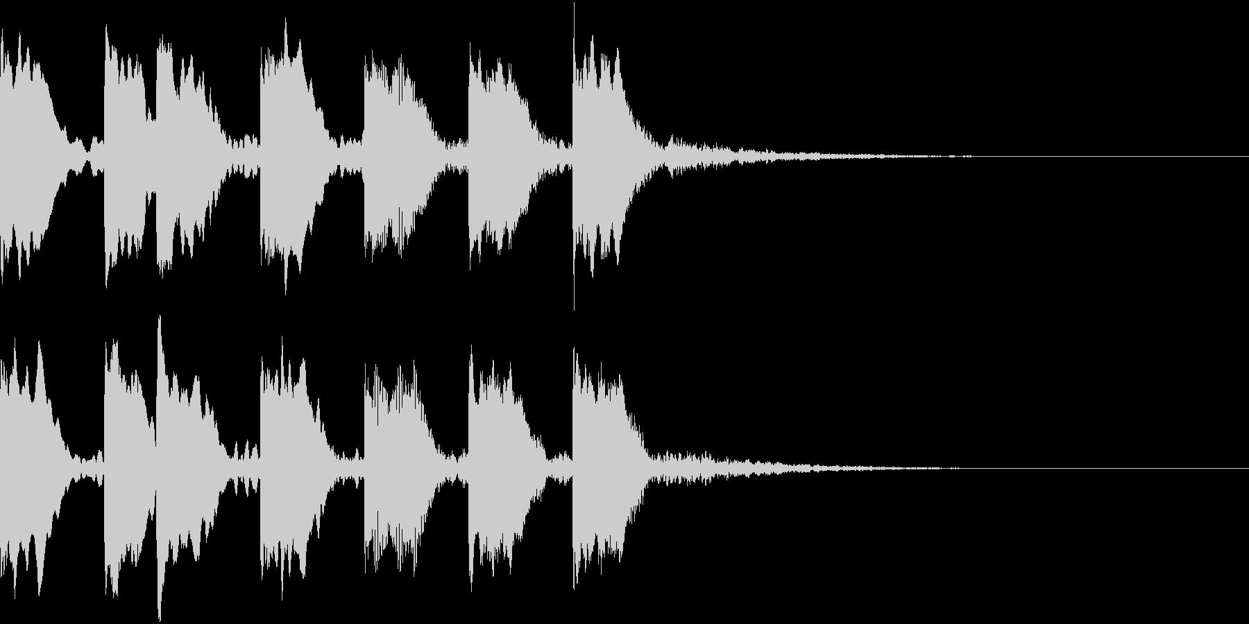 レベルアップ アイテム ヒット 4の未再生の波形